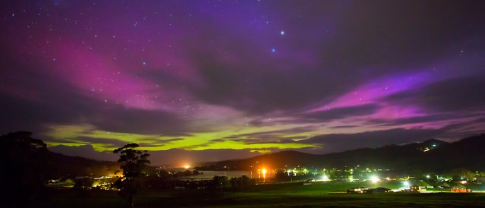 Aurora Australis over Cygnet - Photography - Chris Cobern